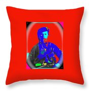 Outlaw Gang Leader Train Bank Robber Murderer Jesse James Collage 1864-2009 Throw Pillow