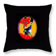Outlaw Gang Leader Train Bank Robber Murderer Jesse James Collage 1875-2009 Throw Pillow