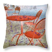 Outside Cafe  Throw Pillow