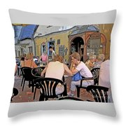 Outside Seating Throw Pillow
