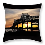 Over The Mississippi Throw Pillow