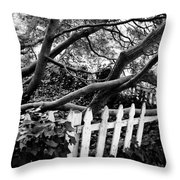 Overflowing A Picket Fence Throw Pillow