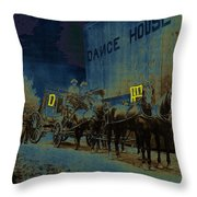 Overland Stage Raiders Homage 1938 Stagecoach 1894-2009 Throw Pillow