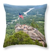 Overlooking Chimney Rock And Lake Lure Throw Pillow