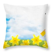 Painting Daffodils Throw Pillow