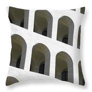 Palazzo Della Civilta' Romana Throw Pillow