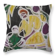 Palm Wine Tamper In The Bush. Throw Pillow