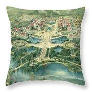 Pan-american Exposition Throw Pillow