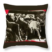 Pancho Villa Ambushed July 20 1923 1923 Dodge Touring Car 1923-2013 Throw Pillow