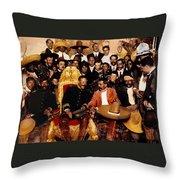 Pancho Villa In Presidential Chair And Emiliano Zapata Palacio Nacional Mexico City December 6 1914 Throw Pillow