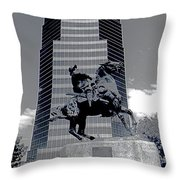 Pancho Villa Statue Downtown Tucson Arizona 1988-2008  Throw Pillow