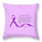 Pancreatic Cancer Awareness Throw Pillow