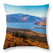 Panorama Of Fish Lake Yukon Territory Canada Throw Pillow