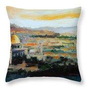 Panorama Of Jerusalem Throw Pillow