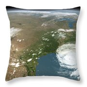 Panoramic View Of Planet Earth Throw Pillow