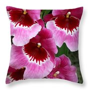 Pansy Orchid 1 Throw Pillow