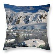 Paradise Bay, Antarctica Throw Pillow