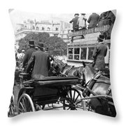 Paris Champs Elysees Throw Pillow