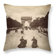 Paris Champs-�lys�es, C1900 Throw Pillow