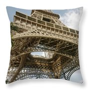 Paris: Eiffel Tower Throw Pillow