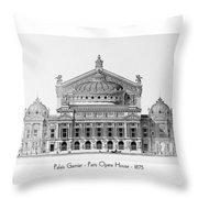 Paris Opera - 1875 Throw Pillow