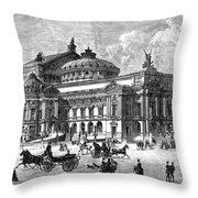 Paris Opera House, 1875 Throw Pillow