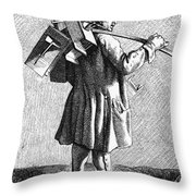 Parisian Exterminator Throw Pillow