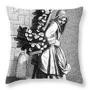 Parisian Street-crier, C1740 Throw Pillow