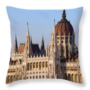 Parliament Building In Budapest Throw Pillow