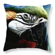 Parrot 13 Throw Pillow