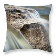Passing Through The Rock Throw Pillow