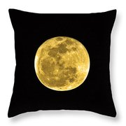 Passover Full Moon Throw Pillow