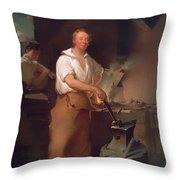 Pat Lyon At The Forge Throw Pillow