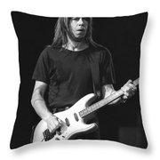 Guitarist Pat Travers Throw Pillow