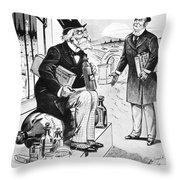Patent Medicine Cartoon Throw Pillow