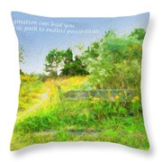 Pathway To The River Throw Pillow