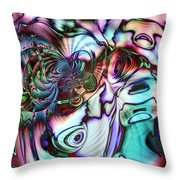 Paua Shell Throw Pillow