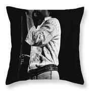 Paul Singing In Spokane 1977 Throw Pillow