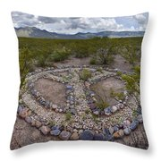 Paz Throw Pillow by Skip Hunt
