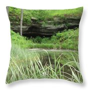 Peaceful Cavern  Throw Pillow