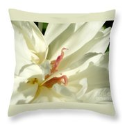 Peaceful Sentinel Of The White Peony Throw Pillow
