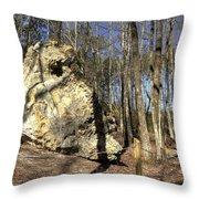 Peach Tree Rock-5 Throw Pillow