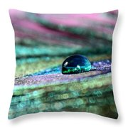 Peacock Gem Throw Pillow