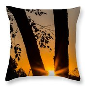 Peeking Sun Throw Pillow