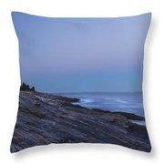 Pemaquid Point Lighthouse On The Maine Coast Throw Pillow