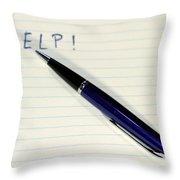 Pen Help Throw Pillow