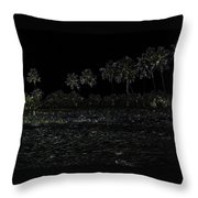 Pencil - Water Rippling In The Coastal Lagoon Throw Pillow