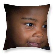 Penny For A Child's Thoughts Throw Pillow
