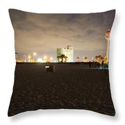 Pensacola Beach At Night Throw Pillow