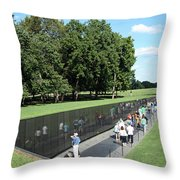 People At The Wall Throw Pillow